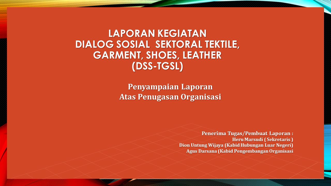 Laporan Kegiatan DSS - TGSL